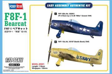 F8F-1 Bearcat · HBO 87267 ·  HobbyBoss · 1:72