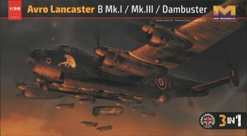 Avro Lancaster B Mk.I / Mk.III /Dambuster 3 in 1 · HKM 01E012 ·  Hong Kong Models · 1:32