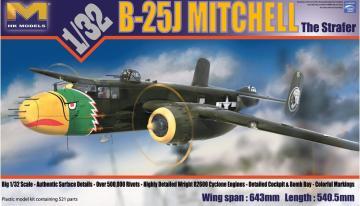 B-25J Mitchell Strafer · HKM 01E02 ·  Hong Kong Models · 1:32
