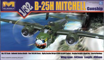 B-25H Mitchell Gunship · HKM 01E03 ·  Hong Kong Models · 1:32