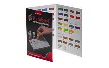 Humbrol Acrylic Colour Chart with hi-spec printing · HR P1159 ·  Humbrol