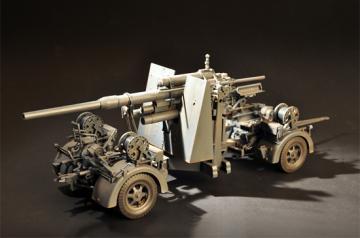 German Flak 36 88MM Anti-Aircraft Gun · ILK 61701 ·  I LOVE KIT · 1:18