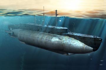 British HMS X-Craft Submarine · ILK 63504 ·  I LOVE KIT · 1:35