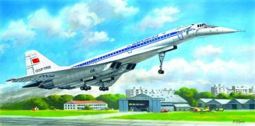 Tupolev 144D, Sowjetisches Überschall-Passagier-Flugzeug · ICM 14402 ·  ICM · 1:144