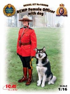RCMP Female Officer with dog · ICM 16008 ·  ICM · 1:16
