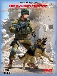 K-9,Israeli Police Team Officer with dog · ICM 16102 ·  ICM · 1:16