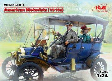 American Motorists (1910s) (1 male & 1 female figures) · ICM 24013 ·  ICM · 1:24