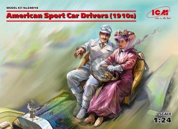 American Sport Car Drivers (1910s) (1 male - 1 female figures) · ICM 24014 ·  ICM · 1:24