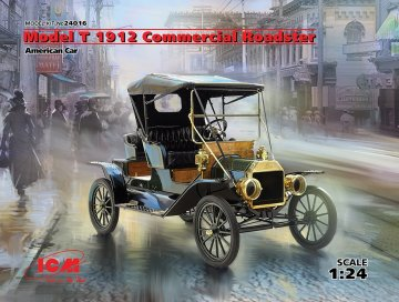 Model T 1912 Commercial Roadster, America Car · ICM 24016 ·  ICM · 1:24