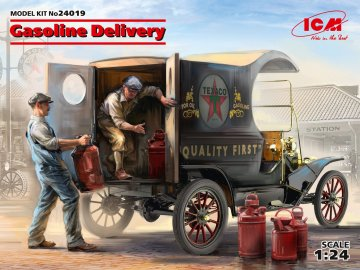 Gasoline Delivery, Model T 1912 Delivery Car w. American Gasoline Loaders - Limited · ICM 24019 ·  ICM · 1:24