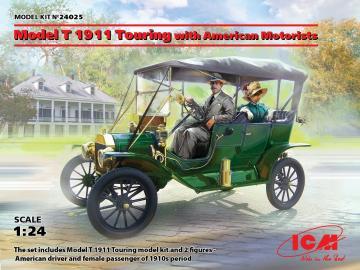 Model T 1911 Touring with American Motorists · ICM 24025 ·  ICM · 1:24