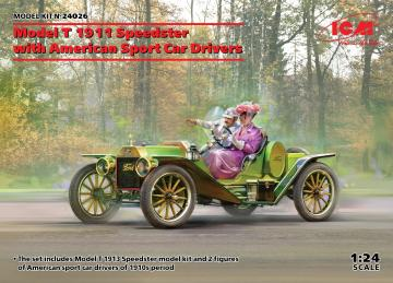 Model T 1913 Speedster with American Sport Car Drivers · ICM 24026 ·  ICM · 1:24