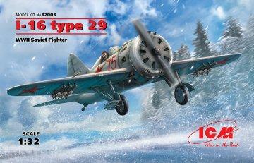 I-16 type 29, WWII Soviet Fighter · ICM 32003 ·  ICM · 1:32
