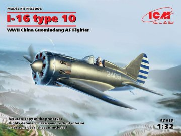 I-16 type 10, WWII China Guomindang AF Fighter · ICM 32006 ·  ICM · 1:32