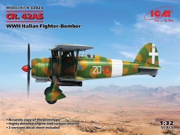 CR. 42AS, WWII Italian Fighter-Bomber · ICM 32023 ·  ICM · 1:32