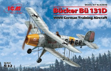 Bücker Bü 131D, WWII German Training Aircraft · ICM 32030 ·  ICM · 1:32