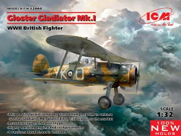 Gloster Gladiator Mk.I - WWII British Fighter · ICM 32040 ·  ICM · 1:32