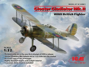 Gloster Gladiator Mk.II, WWII British Fighter · ICM 32041 ·  ICM · 1:32