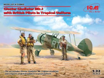 Gloster Gladiator Mk.I with British Pilots in Tropical Uniform · ICM 32043 ·  ICM · 1:32