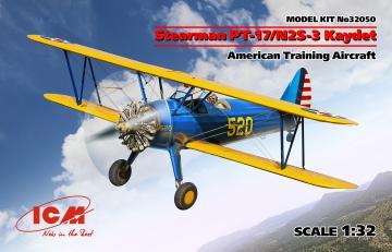 Stearman PT-17/N2S-3 Kaydet , American Training Aircraft · ICM 32050 ·  ICM · 1:32