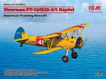 Stearman PT-13/N2S-2/5 Kaydet, American Training Aircraft · ICM 32052 ·  ICM · 1:32