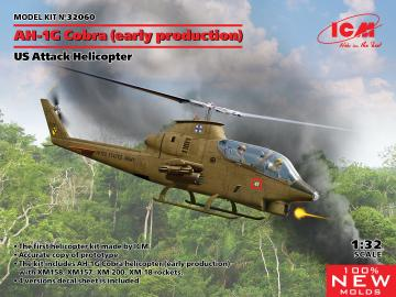 AH-1G Cobra (early production) - US Attack Helicopter · ICM 32060 ·  ICM · 1:32