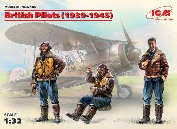British Pilots (1939-1945) (3 figures) · ICM 32105 ·  ICM · 1:32