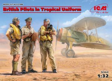 British Pilots in Tropical Uniform(1939-1943) (3 figures) · ICM 32106 ·  ICM · 1:32