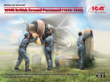 WWII British Ground Personnel (1939-1945)(3 figures) · ICM 32107 ·  ICM · 1:32