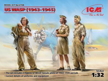 US WASP (1943-1945) (3 figures) · ICM 32108 ·  ICM · 1:32