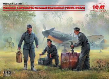 German Luftwaffe Ground Personnel (1939-1945)(3 figures) · ICM 32109 ·  ICM · 1:32