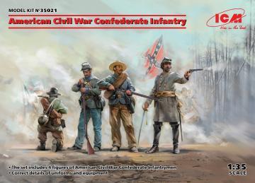 American Civil War - Confederate Infantry · ICM 35021 ·  ICM · 1:35