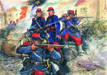French Line Infantry, French Prussian War (1870/71) · ICM 35061 ·  ICM · 1:35