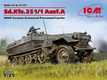 Sd.Kfz.251/1 Ausf.A WWII German Armoured Personnel Carrier · ICM 35101 ·  ICM · 1:35
