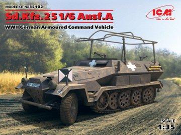 Sd.Kfz.251/6 Ausf.A,WWII German Armoured Command Vehicle · ICM 35102 ·  ICM · 1:35