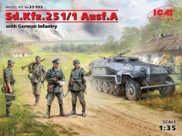Sd.Kfz.251/1 Ausf.A with German Infantry · ICM 35103 ·  ICM · 1:35