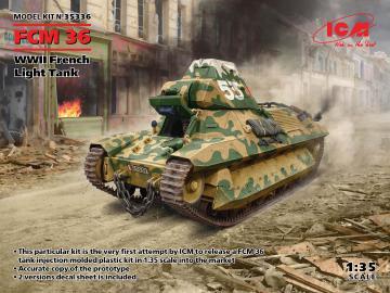 FCM 36, WWII French Light Tank · ICM 35336 ·  ICM · 1:35