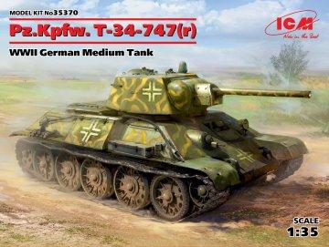 Pz.Kpfw. T-34-747(r) - WWII German Medium Tank · ICM 35370 ·  ICM · 1:35