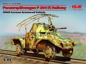 Panzerspähwagen P204(f) Railway WWII German Armoured Vehicle · ICM 35376 ·  ICM · 1:35