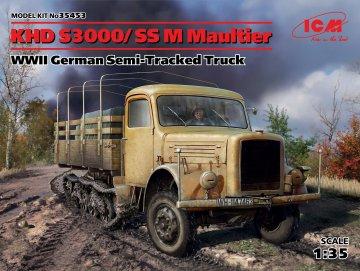 KHD S3000/SS M Maultier WWII German Semi-Tracked Truck · ICM 35453 ·  ICM · 1:35