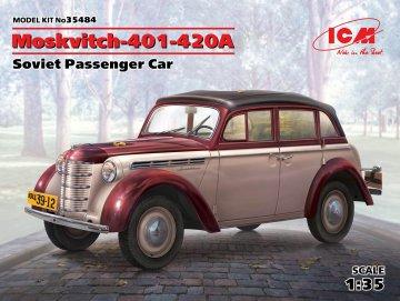 Moskvitch-401-420A - Soviet Passenger Car · ICM 35484 ·  ICM · 1:35