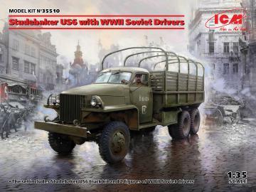 Studebaker US6 with WWII Soviet Drivers · ICM 35510 ·  ICM · 1:35