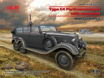 G4 with armament, WWII German Car · ICM 35530 ·  ICM · 1:35