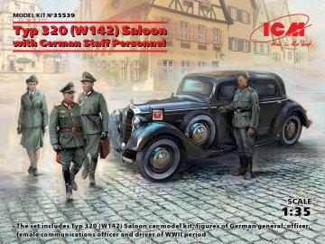 Typ 320 (W142) Saloon with German Staff Personnel - Limited Edition · ICM 35539 ·  ICM · 1:35