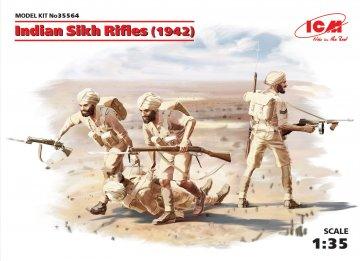WWII Indische Sikh Rifels, 4 Figuren · ICM 35564 ·  ICM · 1:35