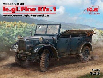 Ie.gl.PKW Kfz.1, WWII German Light Personel Car · ICM 35581 ·  ICM · 1:35