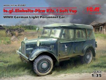 le.gl.Einheitz-Pkw Kfz.1 Soft Top - WWII German Light Personnel Car · ICM 35582 ·  ICM · 1:35
