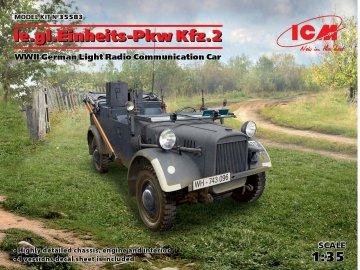 le.gl.Einheitz-Pkw KFZ.2 - WWII German Light Radio Communication Car · ICM 35583 ·  ICM · 1:35