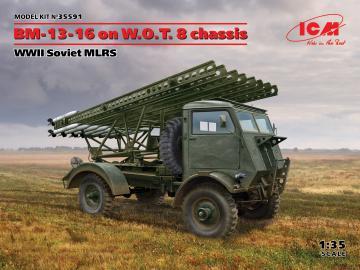 BM-13-16 on W.O.T. 8 chassis, WWII Soviet MLRS · ICM 35591 ·  ICM · 1:35