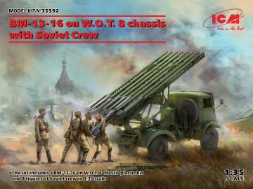 BM-13-16 on W.O.T. 8 chassis with Soviet Crew · ICM 35592 ·  ICM · 1:35